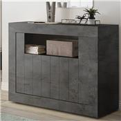 Petit buffet 110 cm moderne anthracite SERENA