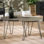 Table basse bois massif BALTIK 2