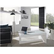 Table basse relevable blanc laqué design ELVIRA