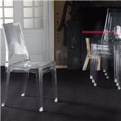 Chaise transparente empilable design ADELAIDE (lot de 4)