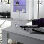 Table basse blanc laqué mat design BURTON