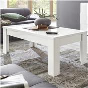 Table basse blanc laqué brillant ARTIC
