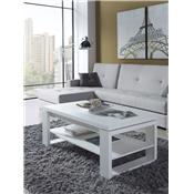 Table basse relevable blanc contemporaine CLIVE