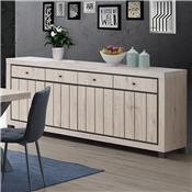 Buffet 225 cm couleur bois naturel EUGENIA