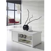 Table basse relevable blanc contemporaine MATHIAS